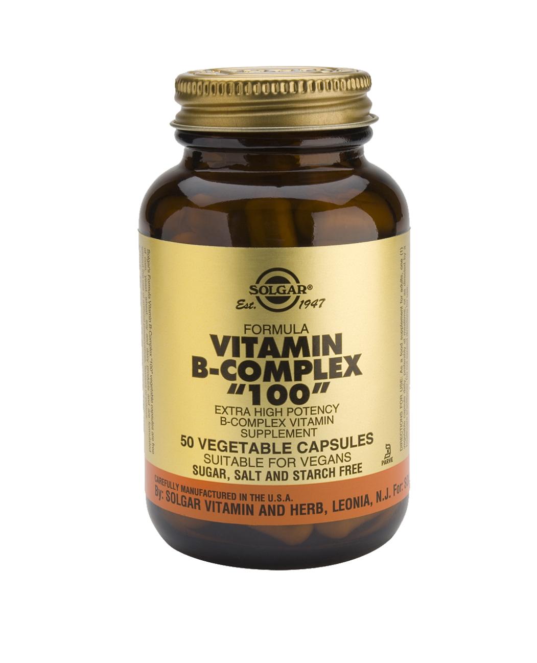 """Vitamin B-Complex """"100"""" Vegetable Capsules"""