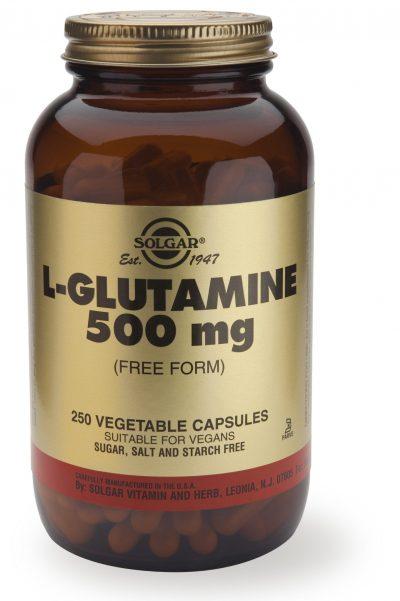 L-Glutamine 500 mg 250 Vegetable Capsules