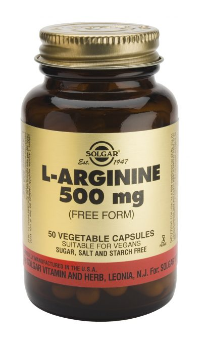 L-Arginine 500 mg 50 Vegetable Capsules