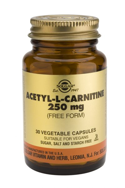 Acetyl-L-Carnitine 250 mg 30 Vegetable Capsules