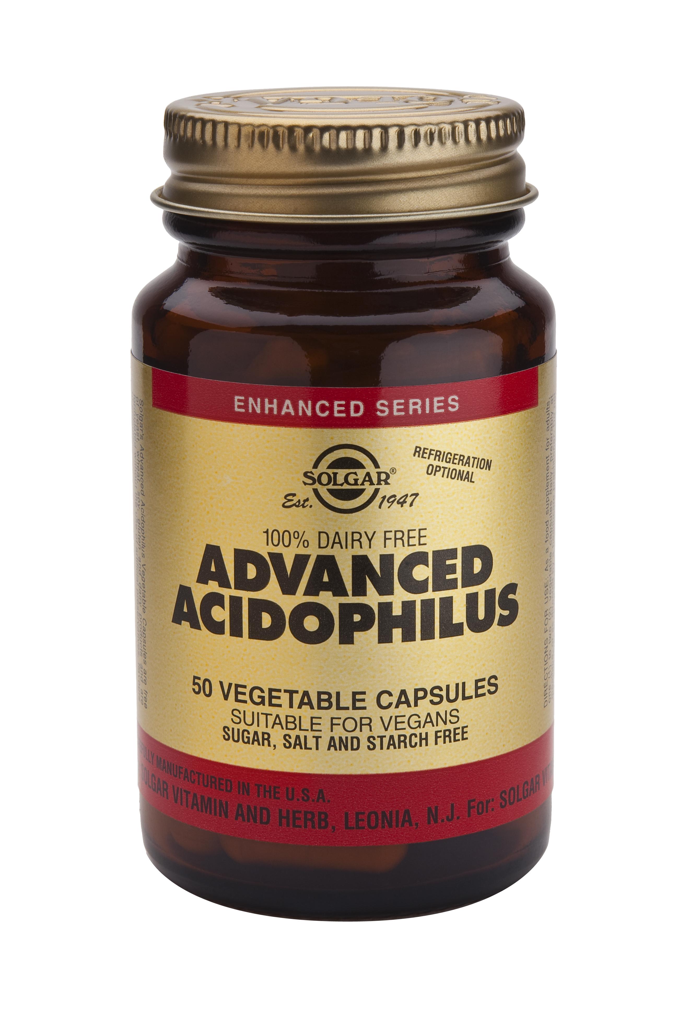 Advanced Acidophilus (100% Dairy Free) 50 Vegetable Capsules