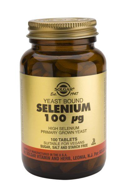 Selenium 100 mcg 100 Tablets (Yeast Bound)