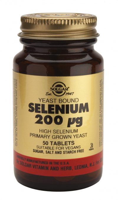 Selenium 200 mcg 50 Tablets (Yeast Bound)