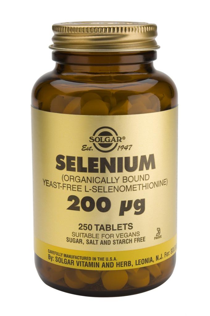 Selenium 200 mcg 250 Tablets (Yeast-Free)