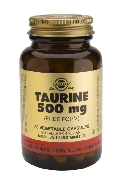 Taurine 500 mg 50 Vegetable Capsules