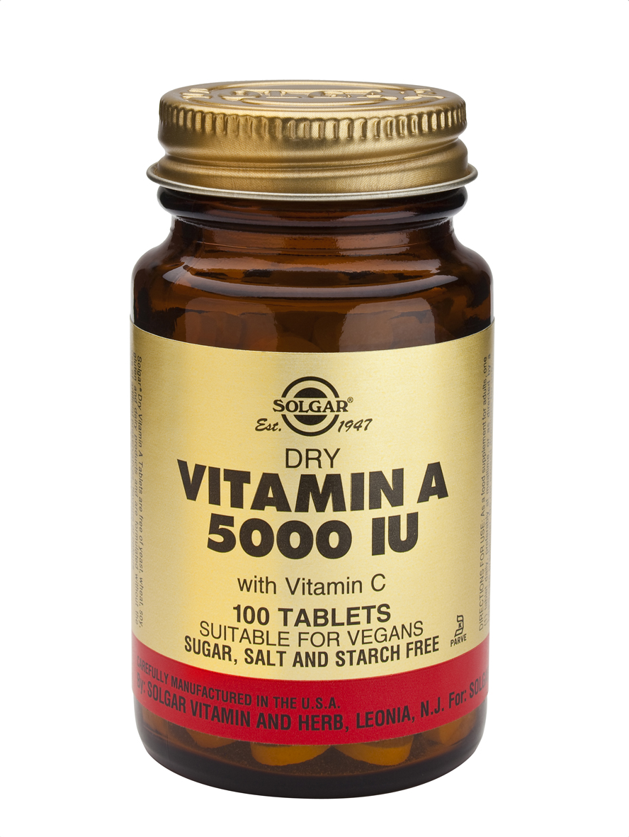 Dry Vitamin A 5000 IU 100 Tablets