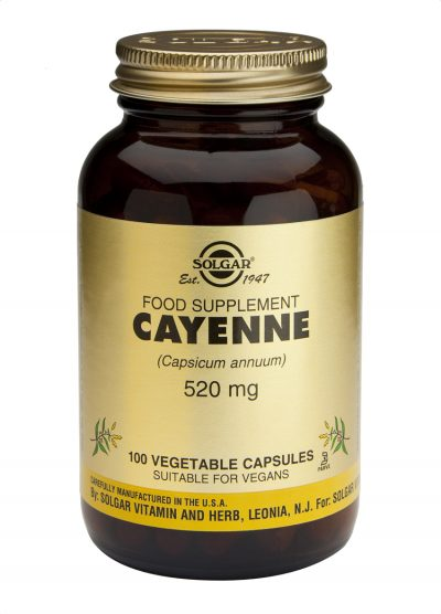 Cayenne 520 mg 100 Vegetable Capsules