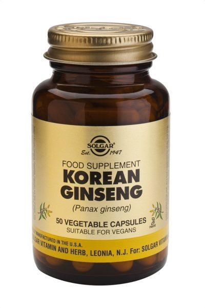 Korean Ginseng 50 Vegetable Capsules