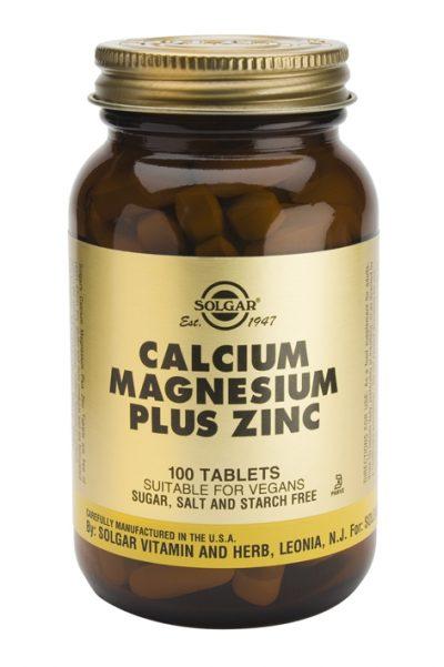 Calcium Magnesium Plus Zinc 100 Tablets
