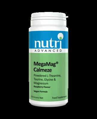 Nutri MegaMag Calmeze Powder (Raspberry Flavour - 270g, 30 servings)