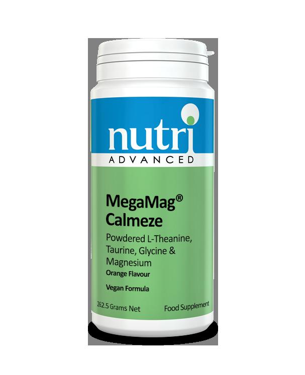 Nutri MegaMag Calmeze Powder (Orange Flavour - 262.5g, 30 servings)