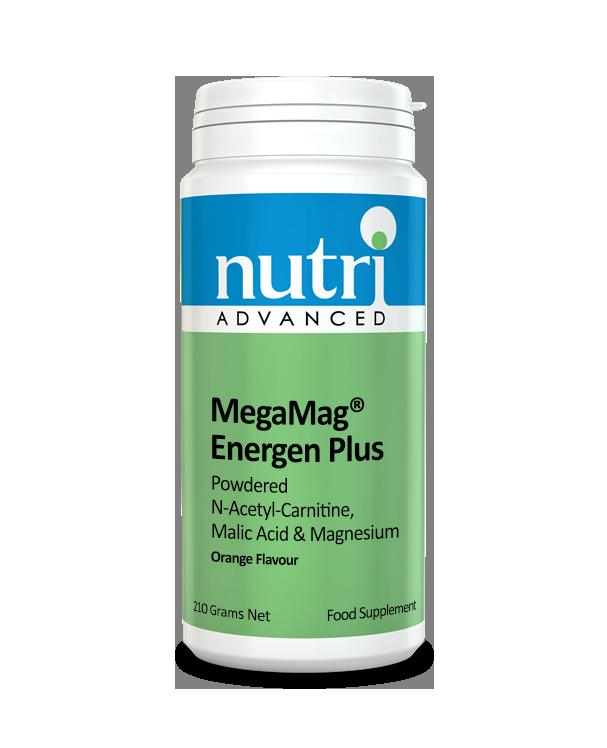 Nutri MegaMag Energen Plus Powder (Orange Flavour - 210g, 30 servings)