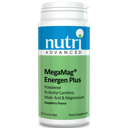 Nutri MegaMag Energen Plus Powder (Raspberry Flavour - 225g, 30 servings)