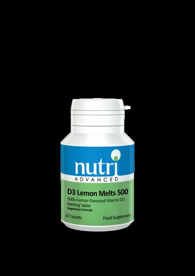 Nutri D3 Lemon Melts 500 120 tabs