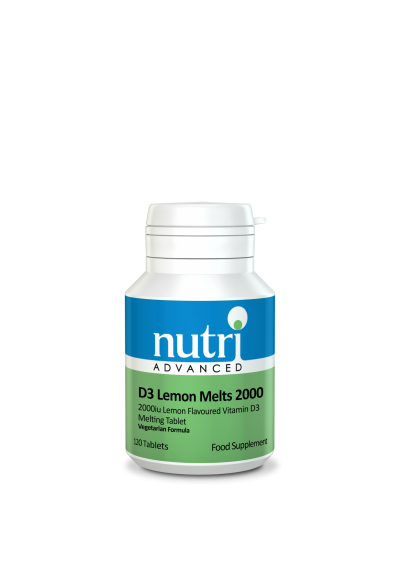 Nutri D3 Lemon Melts 2000 120 tabs