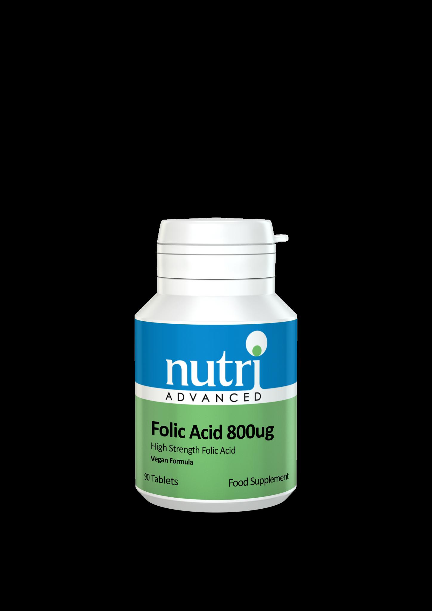 Nutri Folic Acid 800ug 90 tabs