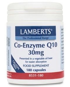 Lamberts Co Enzyme Q10 30mg 180 caps