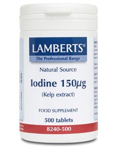 Lamberts Iodine Tablets 150mcg  (Kelp Extract) 500 tabs