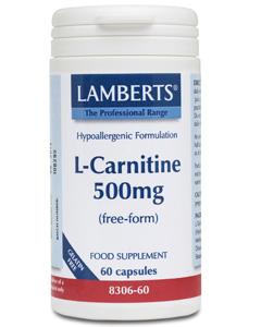 Lamberts L-Carnitine 500mg 60 caps