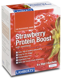 Lamberts Strawberry Protein Boost 6 x 30g sachets