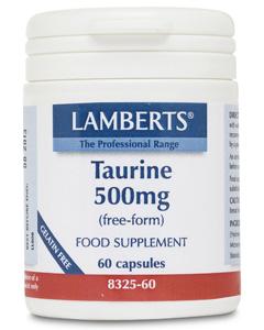 Lamberts Taurine 500mg 60 caps