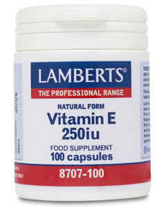 Lamberts Natural Vitamin E 250ius 100 caps