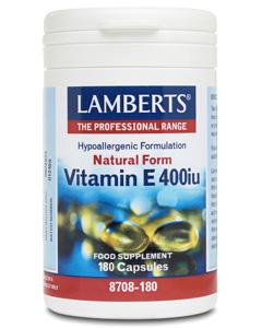 Lamberts Natural Vitamin E 400ius 180 caps