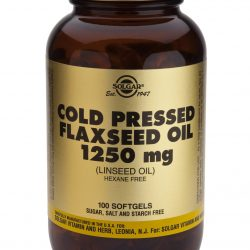 Cold Pressed Flaxseed Oil 1250mg 100 Softgels