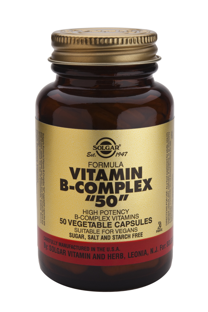 "Vitamin B-Complex ""50"" 50 veg caps"