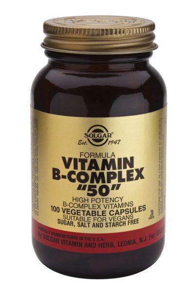 "Vitamin B-Complex ""50"" 100 veg caps"