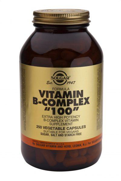 """Vitamin B-Complex """"100"""" 250 Vegetable Capsules"""