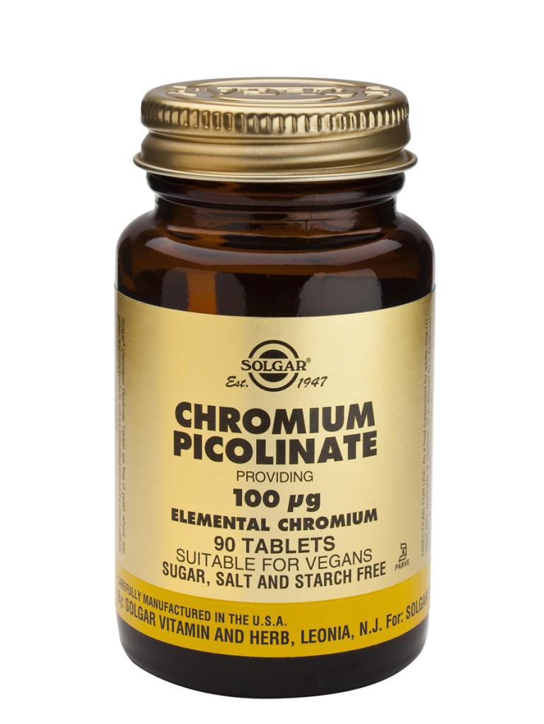 Chromium Picolinate 100 mcg 90 Tablets
