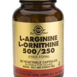 L-Arginine L-Ornithine 500 mg / 250 mg 50 Vegetable Capsules