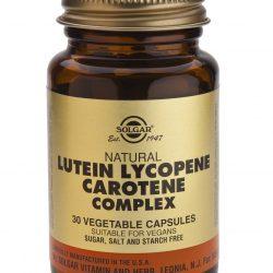 Lutein Lycopene Carotene Complex 30 Vegetable Capsules