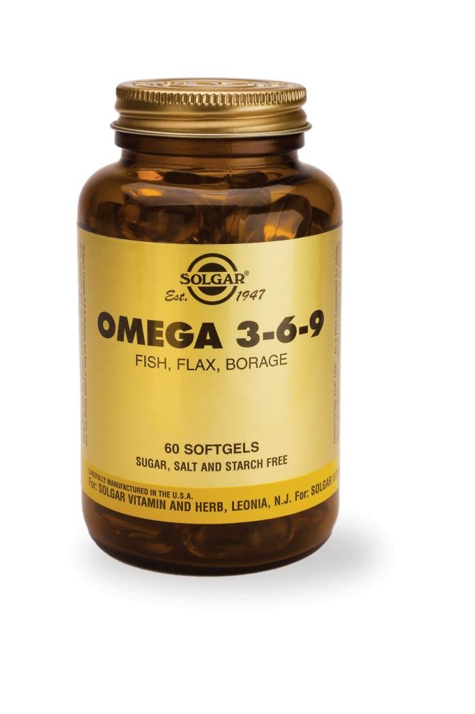 Omega 3-6-9 Fish, Flax, Borage 60 Softgels