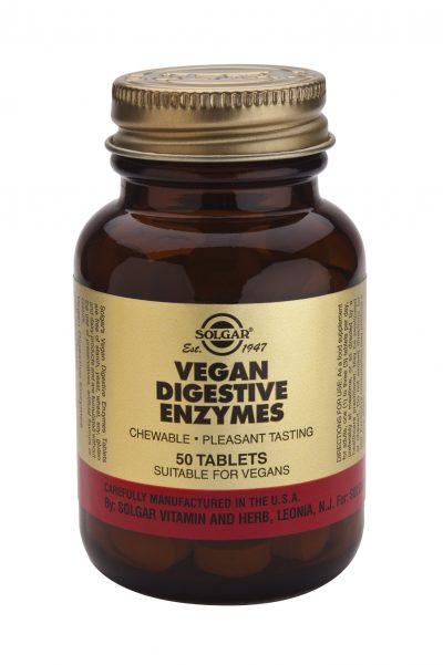 Vegan Digestive Enzymes Tablets 50 chews