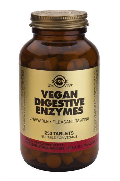 Vegan Digestive Enzymes Tablets 250 chews