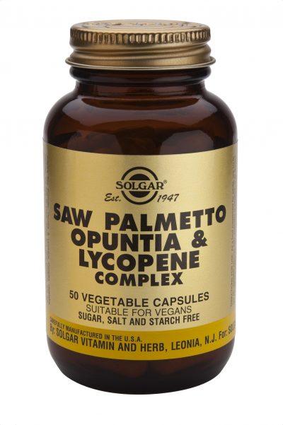 Saw Palmetto Opuntia & Lycopene Complex 50 Vegetable Capsules