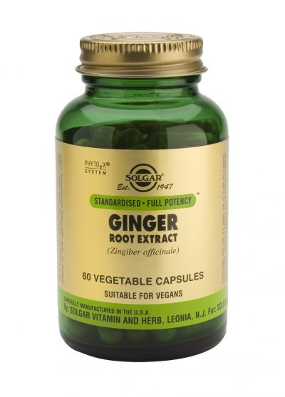 Ginger Root Extract 60 Vegetable Capsules