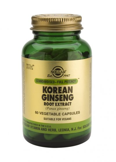 Korean Ginseng Root Extract 60 Vegetable Capsules