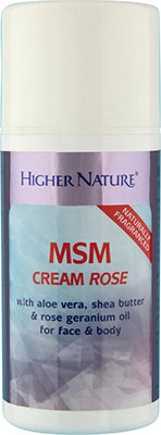 Higher Nature MSM Lotion Rose 100ml