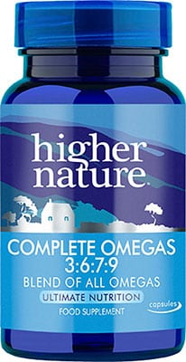 Higher Nature Complete Omegas 3:6:7:9 90 gel caps