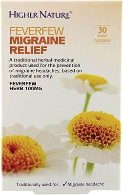 Higher Nature Feverfew Migraine Relief 30 caps