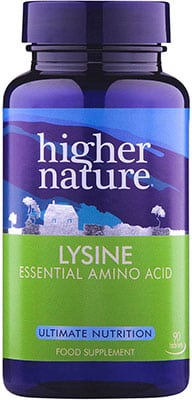 Higher Nature Lysine 500mg 90 tabs