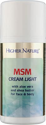 Higher Nature MSM Cream Light 150ml