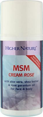 Higher Nature MSM Lotion Rose 150ml