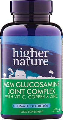 Higher Nature MSM Glucosamine Joint Complex 90 tabs