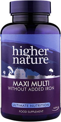 Higher Nature Maxi Multi Without Iron 90 caps