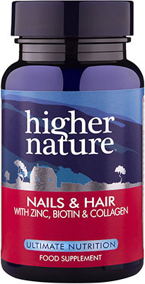Higher Nature Nails and Hair 120 gel caps