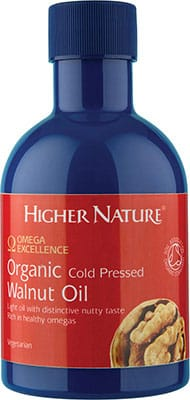Higher Nature Omega Excellence Organic Cold Pressed Walnut Oil 200ml